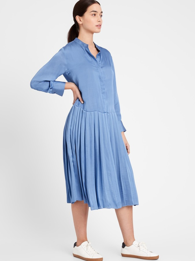 Banana Republic Satin Midi Shirtdress