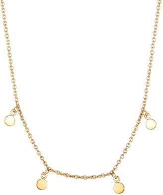 Seol + Gold 18Ct Gold Vermeil Tiny Disc Drop Necklace