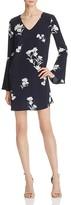 Aqua Bell Sleeve Floral Dress