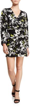 Alice + Olivia Ophelia Drop-Shoulder Asymmetrical Dress