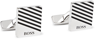 HUGO BOSS Jango Tango Silver-Tone and Enamel Cufflinks and Tie Bar Set - Men - Silver