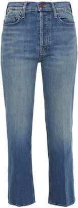 Mother The Tripper Cropped High-rise Straight-leg Jeans