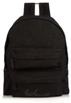 Yohji Yamamoto Logo-printed linen backpack