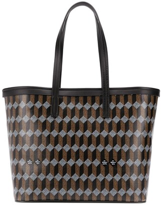 Au Départ Geometric Pattern Tote Bag