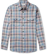 Saint Laurent - Checked Brushed-Twill Shirt