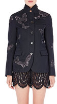 Valentino Women's Embroidered Twill Jacket-BLACK