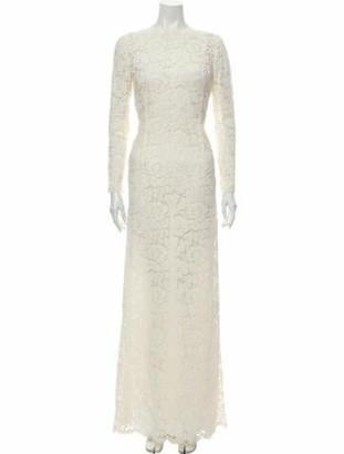 Valentino Lace Pattern Long Dress