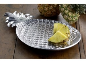 "St. Croix Kindwer 17"" Aluminum Pineapple Tray"
