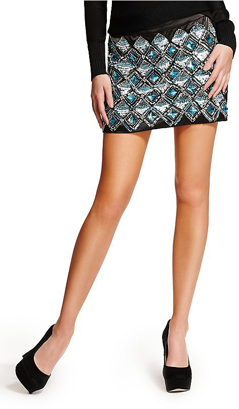 GUESS by Marciano Stella Embellished Miniskirt