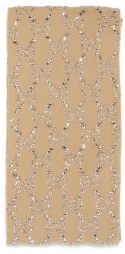 Gucci Molina Gg Crystal-embellished Tights - Ivory