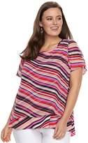 Dana Buchman Plus Size Layered Top
