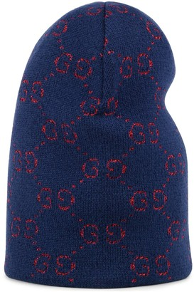 Gucci Children's GG lame cotton hat