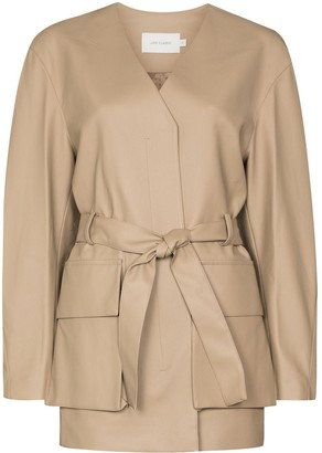 Low Classic Belted Long-Sleeve Jacket