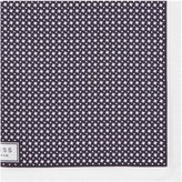 Reiss Reiss Diego - Houndstooth Pocket Square In Blue, Mens