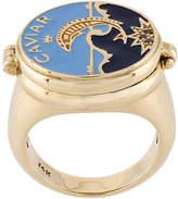 Alison Lou 'Black Cavier' diamond ring