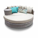 BEIGE Romford Patio Daybed with Cushions Sol 72 Outdoor Cushion Color