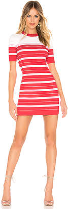 Amanda Uprichard Striped Sweater Dress