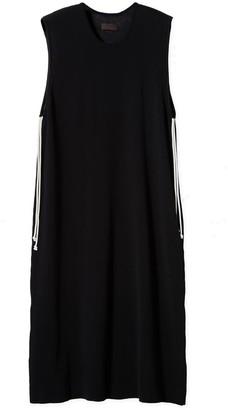 Oyuna Gabek Knitted Luxury Black Cotton Dress