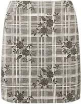 Dorothy Perkins Floral Check Print Mini Skirt