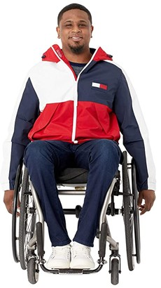 Tommy Hilfiger Adaptive Yacht Jacket with Magnetic Zipper (Apple Red) Men's Clothing