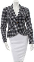 Tory Burch Gingham Peak Lapel Blazer