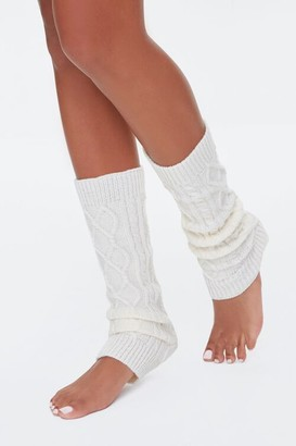 Forever 21 Cable-Knit Leg Warmers