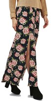 Topshop Women's Rose Print Split Maxi Skirt