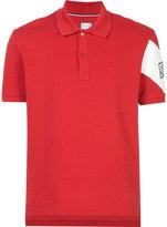 Moncler Gamme Bleu constrast stripe polo shirt - men - Cotton - S