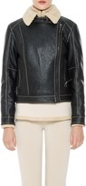 Max Studio Faux Shearling Moto Jacket