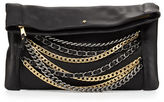 Ash Domino Chain Leather Clutch Bag