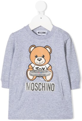 MOSCHINO BAMBINO Long Sleeve Teddy Print Sweater
