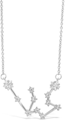 Sterling Forever Delicate Constellation CZ Aquarius Zodiac Pendant Necklace