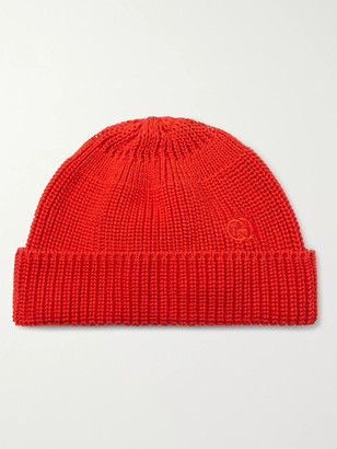 Gucci Logo-embroidered Cable-knit Cotton Beanie - Red