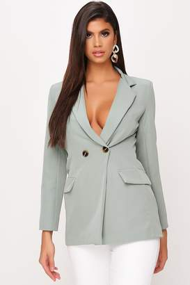 I SAW IT FIRST Sage Double Button Blazer