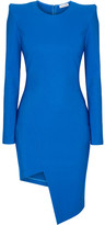 Thierry Mugler Asymmetric Stretch-knit Dress - Cobalt blue