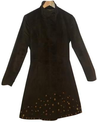 GUESS Green Velvet Coat for Women
