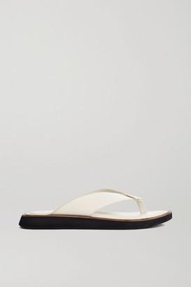 Rag & Bone Parker Leather Platform Flip Flops - White