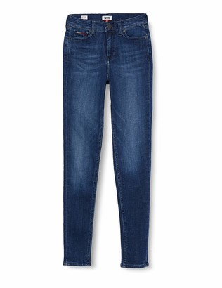 Tommy Jeans Women's Nora Mid Rise Skinny Crpsd Straight Jeans