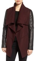Mackage Women's Asymmetrical Leather Sleeve Coat