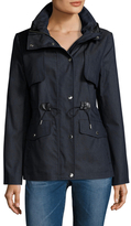 Cole Haan Hooded Drawstring Waist Jacket