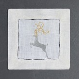 Sferra Reindeer Cocktail Napkins, Set of 4