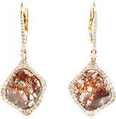 Saqqara 18k Rose Gold Sliced Diamond Drop Earrings