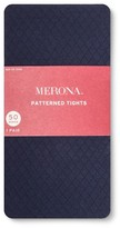 Merona Women's Plus-Size Tights Diamond Texture Navy 2X
