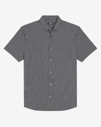 Express Slim Striped Wrinkle-Resistant Performance Short Sleeve Shirt
