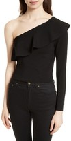 Milly Women's One-Shoulder Flounce Top