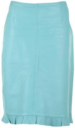 Karen Millen Turquoise Leather Skirts
