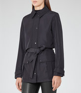 Reiss Dale Cropped Trench Coat