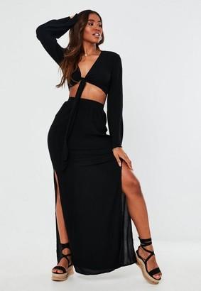 Missguided Petite Black Maxi Skirt