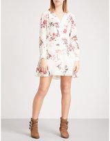 The Kooples Floral silk-crepe dress