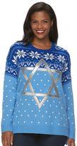 Plus Size US Sweaters Hanukkah Graphic Sweater
